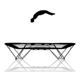 Silhouette on trampoline Royalty Free Stock Photos