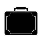 Silhouette travel suitcase modern style eqipment Royalty Free Stock Photography