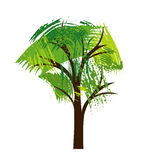 Silhouette of tree with leaves Royalty Free Stock Photos