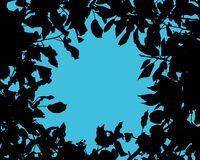 Silhouette of tree leaves. Vector background with a silhouette of tree leaves Royalty Free Stock Photo
