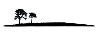 silhouette treen Vektor Illustrationer