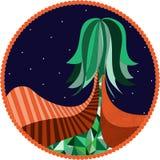 silhouette treen Royaltyfria Bilder