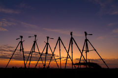 Silhouette of a tripod Royalty Free Stock Photo