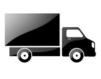 Silhouette of a truck. Stock Image