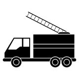 Silhouette truck fire rescue urgency attention Royalty Free Stock Images