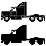 Silhouette of a truck Ford Aeromax. Royalty Free Stock Photos