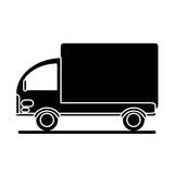 Silhouette truck mini delivery cargo Stock Photo