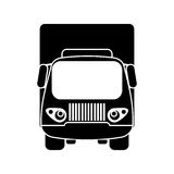 Silhouette truck small cargo transportation Royalty Free Stock Image