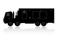 Silhouette of a truck on a white background. Royalty Free Stock Photos
