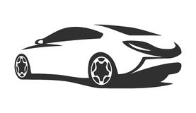Silhouette tuning car. For print or for site Stock Photo