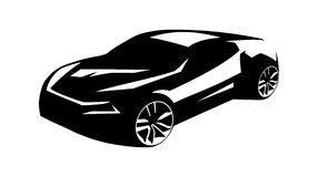 Silhouette tuning car Royalty Free Stock Photos