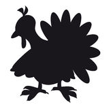 The silhouette of turkeys Royalty Free Stock Images