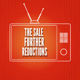 Silhouette of a TV, The sale Further reduction Royalty Free Stock Photo