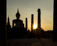 Silhouette Twilight Buddha Statue Royalty Free Stock Photos