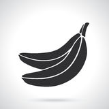 Silhouette of two bananas Royalty Free Stock Photos