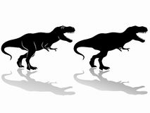 Silhouette of a tyrannosaurus. vector drawing Royalty Free Stock Images