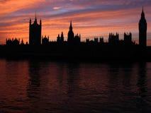 silhouette uk för 01 london Royaltyfri Fotografi