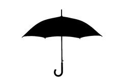A silhouette of an umbrella Royalty Free Stock Photos