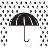 Silhouette of umbrella Royalty Free Stock Photo