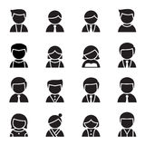 Silhouette User , man, woman Icon set Vector Royalty Free Stock Images