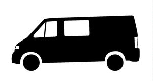 Silhouette of van car Royalty Free Stock Image