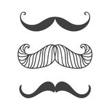 Silhouette vector black white mustache hair hipster curly collection beard barber and gentleman symbol fashion human Royalty Free Stock Photography