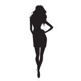 Silhouette. Vector illustration Royalty Free Stock Images