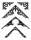 Set of Victorian Gingerbread Architectural Trim Illustrations. Royalty Free Illustration