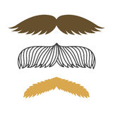 Silhouette vector mustache hair hipster curly collection beard barber and gentleman symbol fashion adult human facial Royalty Free Stock Photo