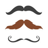 Silhouette vector mustache hair hipster curly collection beard barber and gentleman symbol fashion adult human facial Royalty Free Stock Images