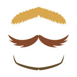 Silhouette vector mustache hair hipster curly collection beard barber and gentleman symbol fashion adult human facial Stock Photo