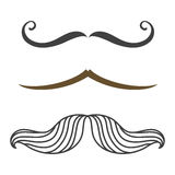 Silhouette vector mustache hair hipster curly collection beard barber and gentleman symbol fashion adult human facial Stock Image