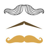 Silhouette vector mustache hair hipster curly collection beard barber and gentleman symbol fashion adult human facial Stock Photography