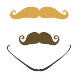 Silhouette vector mustache hair hipster curly collection beard barber and gentleman symbol fashion adult human facial Royalty Free Stock Photography