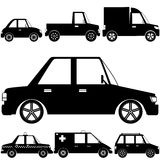Silhouette vehicle symbol Royalty Free Stock Image