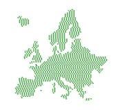 Silhouette verte de l'Europe illustration libre de droits
