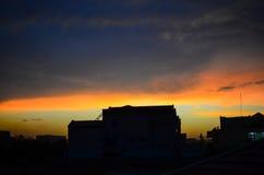 Silhouette view at Ouagadougou Stock Photography