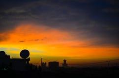Silhouette view at Ouagadougou Stock Images