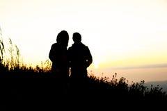 Silhouette viewpoint Stock Photos