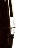Silhouette of a violin Stock Photos