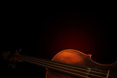 Silhouette of a violin Stock Images