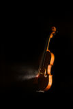 Silhouette of a violin Stock Photography