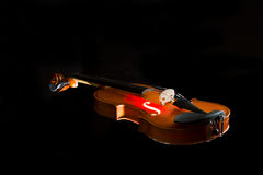 Silhouette of a violin Royalty Free Stock Photo