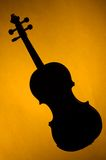 Silhouette Violin Viola on Gold Stock Photos