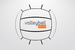 Silhouette of volleyball ball. Royalty Free Stock Photos