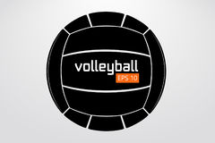 Silhouette of volleyball ball. Royalty Free Stock Photography