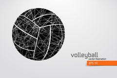 Silhouette of volleyball ball. Stock Photos