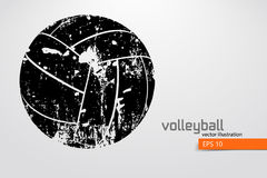Silhouette of volleyball ball. Royalty Free Stock Image