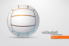 Silhouette of volleyball ball. Royalty Free Stock Images