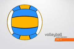 Silhouette of volleyball ball. Stock Images